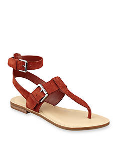 Marc Fisher Reily Thong Ankle Flat Sandal