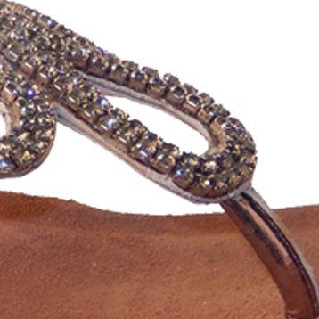 Flat Sandals for Women: Pewter Vis--Vis Dahra Sandal