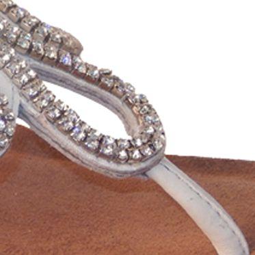 Flat Sandals for Women: White Vis--Vis Dahra Sandal