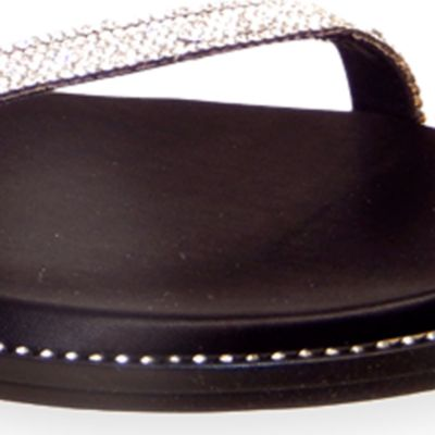 Flat Sandals for Women: Black Vis-a-Vis Vern Sandal