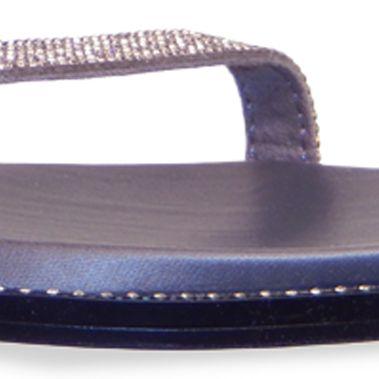 Flat Sandals for Women: Pewter Vis-a-Vis Vern Sandal