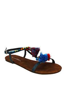 C. Label Darby Fringe Sandal