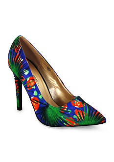 C. Label Liberty Floral Print Pumps
