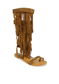 not rated Azelea Knee High Fringe Sandal