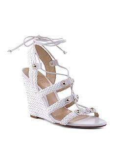 Schutz Jayne Woven Wedge Sandals