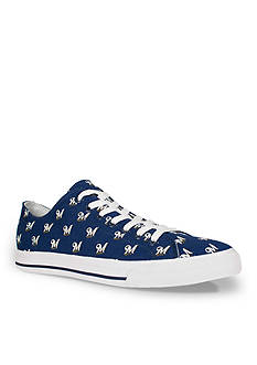 Row One Brands Unisex MLB Milwaukee Brewers Low Top Shoe