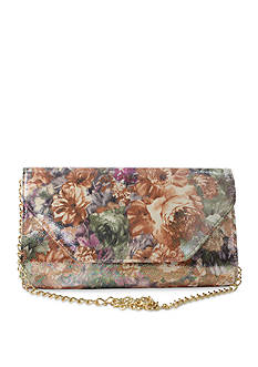 J Reneé Pebble Floral Print Fabric clutch