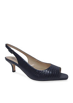 JRenee Classie Peep-Toe Pump - Available in Extended Sizes