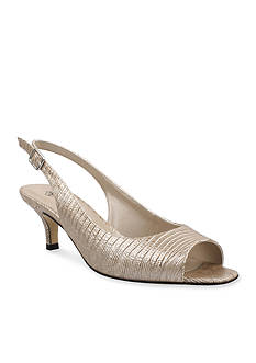 JRenee Classie Peep-Toe Slingback - Available in Extended Sizes