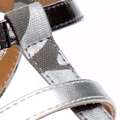 Flat Sandals for Women: Silver New Directions Wilde Exotic Thong