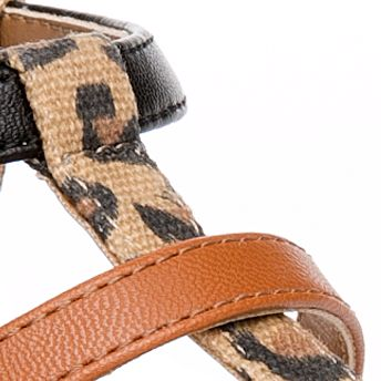 Flat Sandals for Women: Leopard New Directions Wilde Exotic Thong