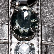 Flat Sandals for Women: Pewter New Directions Tracy Jewel Strap Sandal
