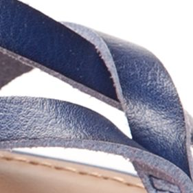 New Directions Shoes Sale: Blue New Directions Juliana Strappy Flat Sandal