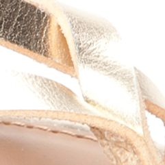 New Directions Shoes Sale: Gold New Directions Juliana Strappy Flat Sandal