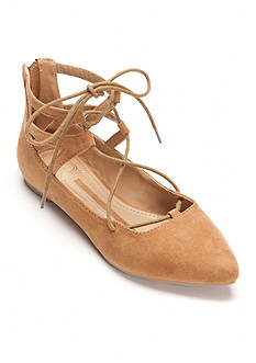 New Directions Mazie Laceup Flats