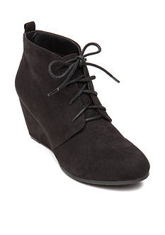 New Directions Camden Laceup Wedge Bootie