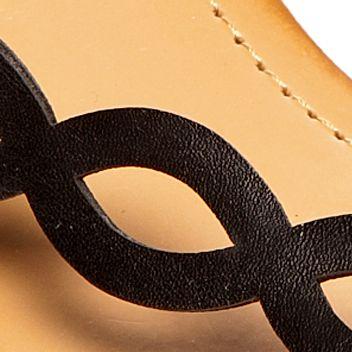Flat Sandals for Women: Black UNLISTED Color Pencil Sandal