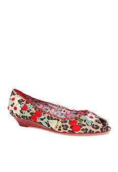 Poetic Licence Amy's Flowers Peeptoe Wedge