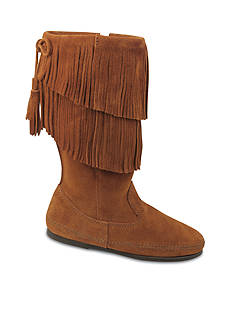 Minnetonka 2-Layer Fringe Boot
