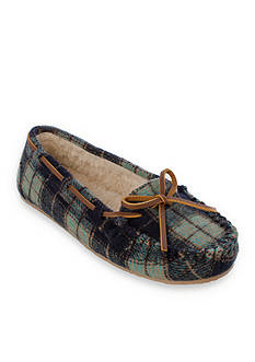 Minnetonka Plaid Cally Slipper