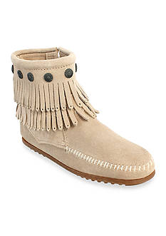 Minnetonka Double Fringe Side Zip Boots