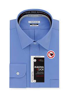 Van Heusen Dress Shirts Wrinkle Free Slim-Fit Magna Click Dress Shirt