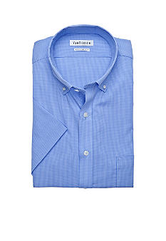 Van Heusen Gingham Poplin Dress Shirt