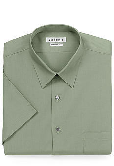 Van Heusen Wrinkle Free Short Sleeve Poplin Dress Shirt