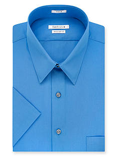 Van Heusen Short Sleeve Wrinkle Free Poplin Dress Shirt