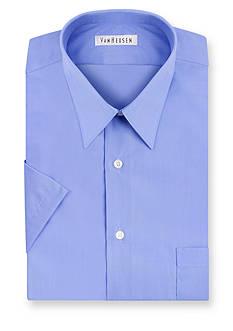 Van Heusen Short Sleeve Wrinkle Free Poplin Dress Shirt