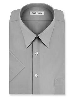 Van Heusen Big & Tall Short Sleeve Wrinkle-Free Poplin Dress Shirt