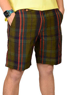 Vintage 1946 Authentic Madras Plaid Shorts