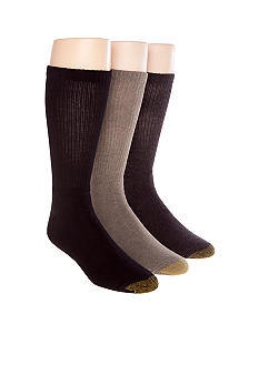 Gold Toe 3-Pack Uptown Crew Socks
