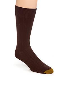 Gold Toe Men's Rayon Rib Crew Socks -Single Pair