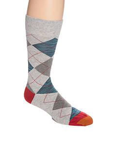 Goldtoe Combed Cotton Argyle Crew Socks - Single Pair