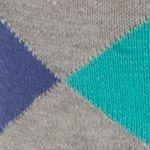Mens Casual Socks: Steep Leg Goldtoe Combed Cotton Argyle Crew Socks - Single Pair