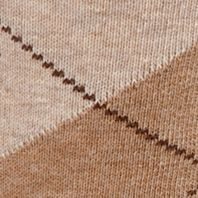 Men: Casual Sale: Oatmeal Heather Gold Toe Men's Argyle Crew Socks - Single Pair