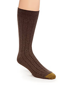 Gold Toe Men's Ultra Soft Rib Crew Socks - Single Pair
