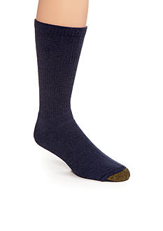 Gold Toe Men's Cushioned Cotton Uptown Crew Socks - Single Pair