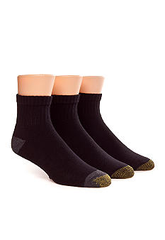 Gold Toe 3-Pack Athletic Quarter Socks
