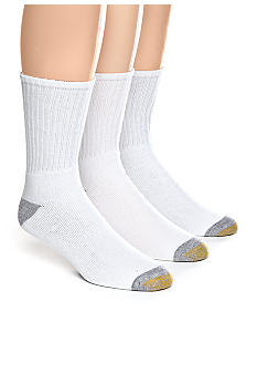 Gold Toe 3-Pack Athletic Crew Socks