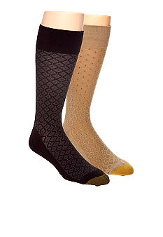 Gold Toe Diamond Neat Dress Socks - Single Pair