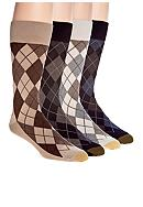 Gold Toe® Village Argyle with AquaFX Socks - Single Pair