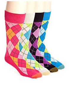 Gold Toe Village Argyle with AquaFX Socks - Single Pair