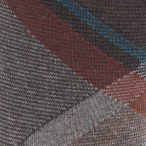 Mens Casual Socks: Blue Goldtoe Bohemian Plaid Crew Socks - Single Pair