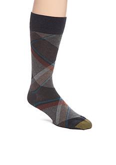 Goldtoe Bohemian Plaid Crew Socks - Single Pair