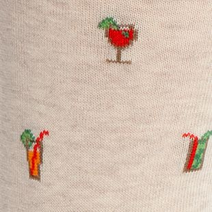 Men: Casual Sale: Oatmeal Gold Toe Happy Hour Crew Socks - Single Pair