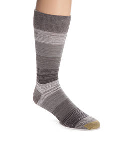 Gold Toe Simple Stripe Rib Crew Socks - Single Pair