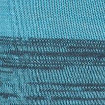 Mens Casual Socks: Blue Night Gold Toe Simple Stripe Rib Crew Socks - Single Pair