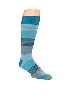 Gold Toe Simple Stripe Rib Crew Socks - Single Pair